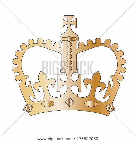 The crown similar to that found on several of Englands gates in Londonduring Elizabeth's Reign.