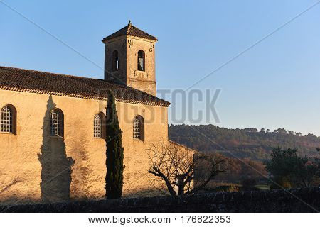 Protestant temple of Lourmarin. Was built outside the village in 1816. Provence-Alpes-Cote d'Azur. France