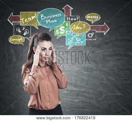 Stressed Woman And Business Ideas