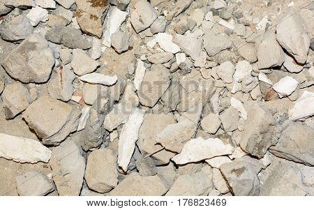Texture Of A Broken Concrete Road, Walls