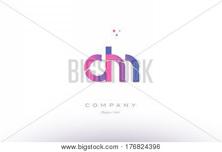 Dm D M  Pink Modern Creative Alphabet Letter Logo Icon Template