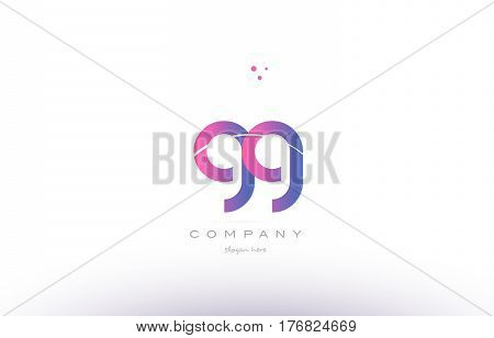 Gg G G  Pink Modern Creative Alphabet Letter Logo Icon Template