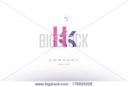 Kk K K  Pink Modern Creative Alphabet Letter Logo Icon Template