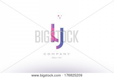 Ly L Y  Pink Modern Creative Alphabet Letter Logo Icon Template