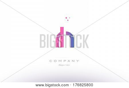 Rh R H  Pink Modern Creative Alphabet Letter Logo Icon Template