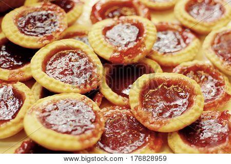 Home made jam tarts - retro home baking