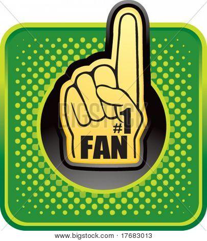 number one fan foam hand web button