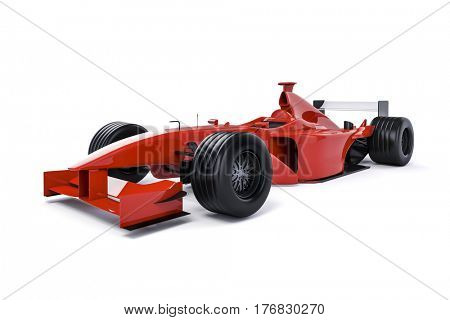 3d race car on white background