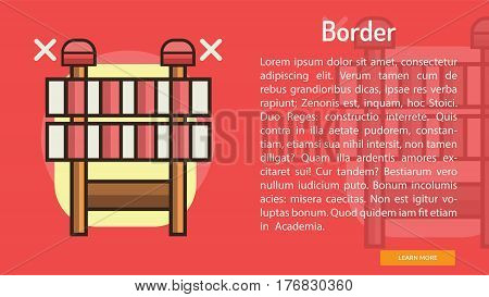 Border Conceptual Banner | Great banner flat design illustration concepts for construction, equipment, industry and much more.