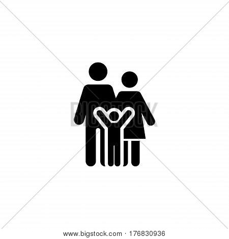 Family Support and Medical Services Icon. Flat Design. Isolated.