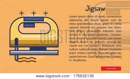 Jigsaw Conceptual Banner | Great banner flat design illustration concepts for construction, equipment, industry and much more.