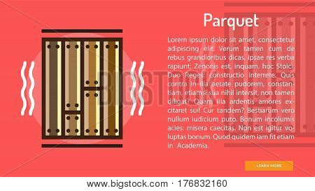Parquet Conceptual Banner | Great banner flat design illustration concepts for construction, equipment, industry and much more.