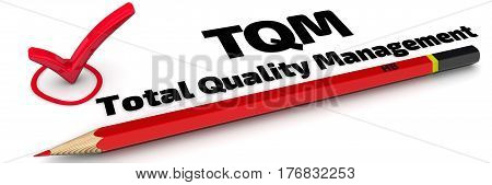 TQM. Total Quality Management. The mark
