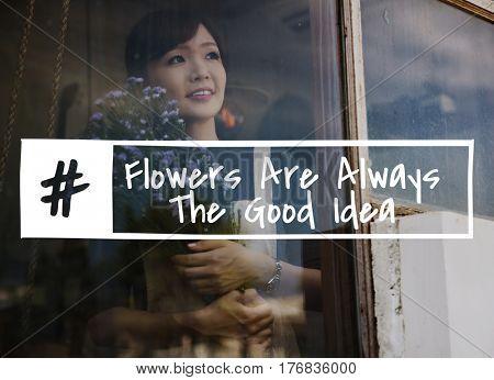 Blossom Flowers Ideas Cheer Motivation Word