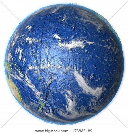 Pacific Ocean On Earth - Visible Ocean Floor