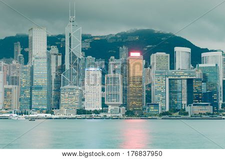 City of Hong Kong central business downtown cityscape downtown background