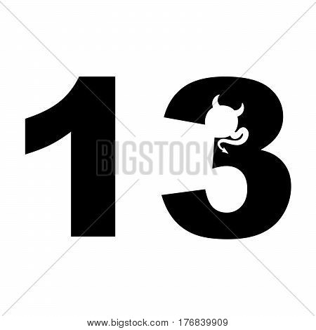 Friday the 13th. Lucky number-13 vector illustration
