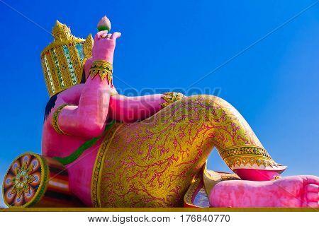 Back of Ganesha with blue sky Ganesha: Lord of Success