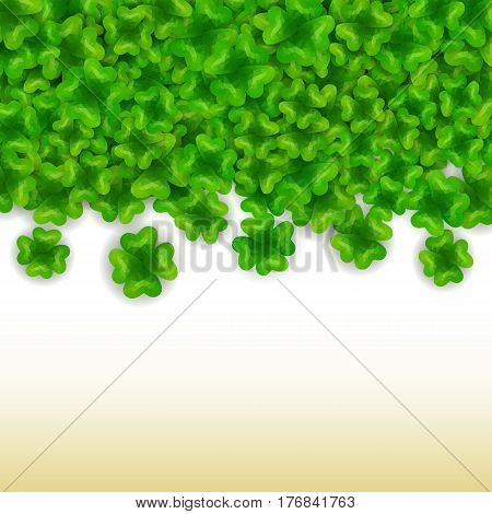 Vector low poly clover background st. Patricks day irish spring holiday 17 march
