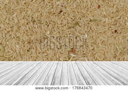Wood Terrace And Rice Texture