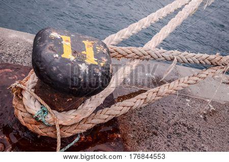 Old Vintage Naval Rope