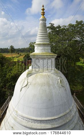 Biggest Dagoba in the Palace Isurumuniya. Anuradhapura, Sri Lanka