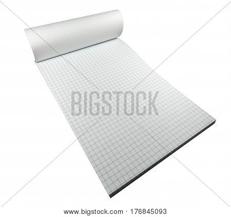 Notepad Paper Isolated