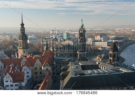 Old Town and of Katholische Hofkirche, Opera Semperoper, Dresden, Germany