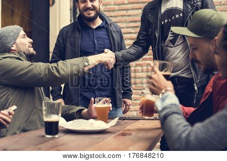 Men Hand Shaking First Meet