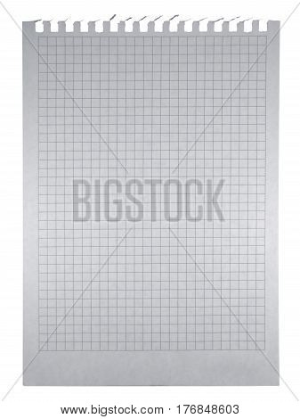 Notepad paper isolated on white with Clipping Path