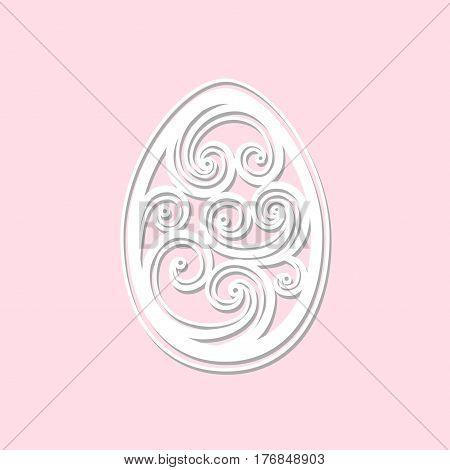 Vector openwork Easter egg art. Laser cut easter egg