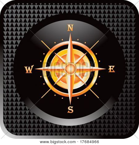 compass on black web button