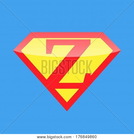 Superhero logo with the letter Z. Vector illustration