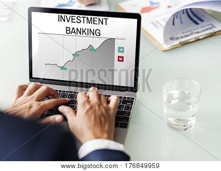 Investment Banking Money Management Concept