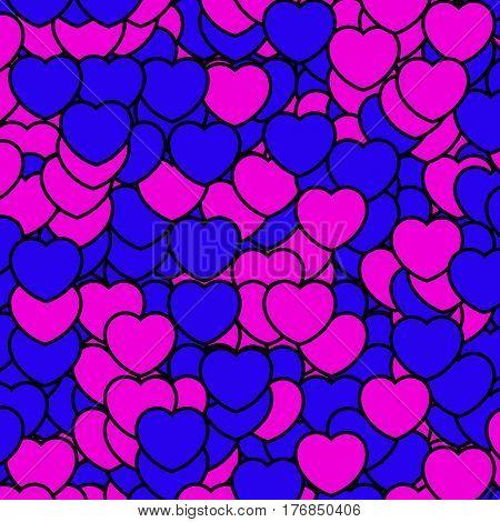 Heart Pattern For Saint Valentine Holiday, High Definition Design