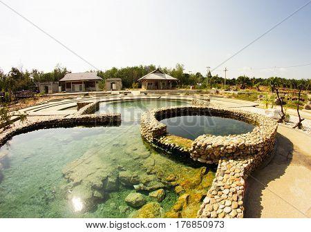 Salty Hot Springs at Krabi Province Thailand