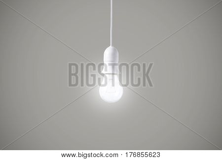 light bulb on gray background. concept of new ideas with innovation and creativity.