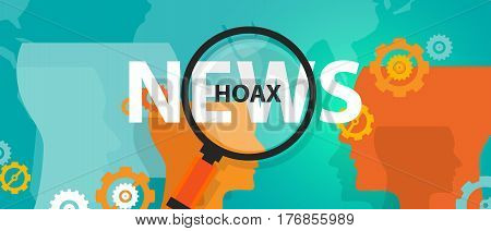 hoax fake news or facts alternative find truth press problem online vector