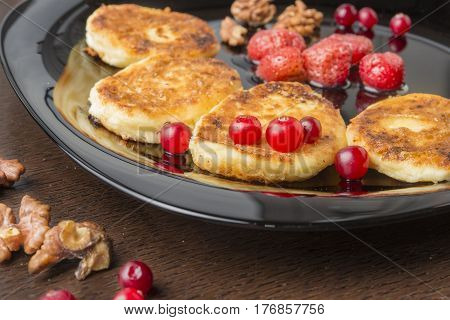 Russian Cottage cheese cakes/cheesecakes.cheesecakes the prepared houses