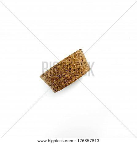 Wine cork white background isolated on white background