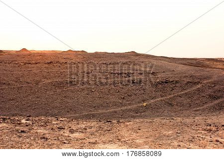 The Desert of Degla Valley Sahara in Egypt