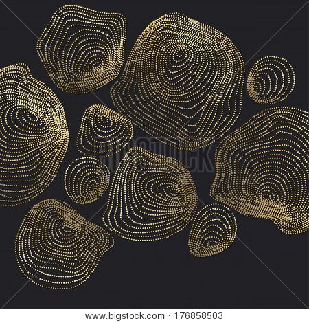 Abstract Background inspired by nature stone shapes. dynamic emitted particles surface design. Vector Illustration. Modern geometry luxury design for card, header, web-banner, wallpaper, fashion decor and fabric.