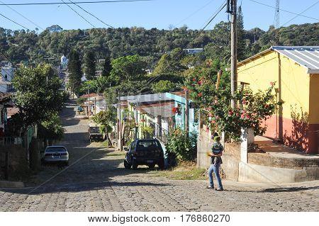 The Village Of Conception De Ataco On El Salvador