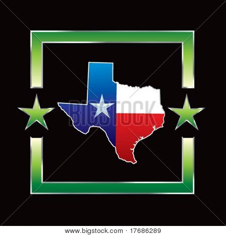 lonestar state of texas on star background