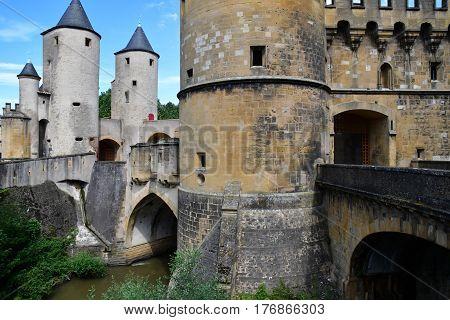 Metz France - july 25 2016 : the picturesque porte des Allemands