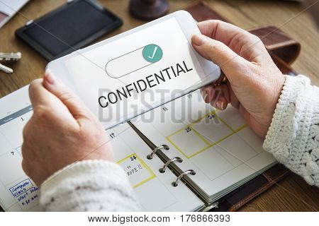 Confidential Personal Privacy Quiet Trusty poster