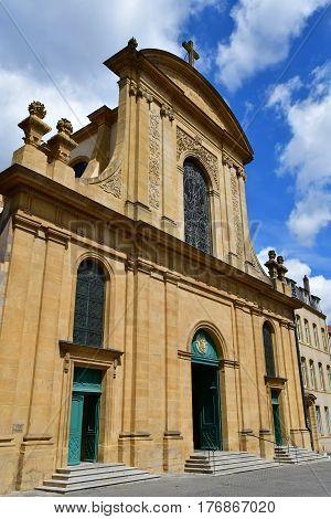 Metz France - july 25 2016 : the Notre Dame de l Assomption church