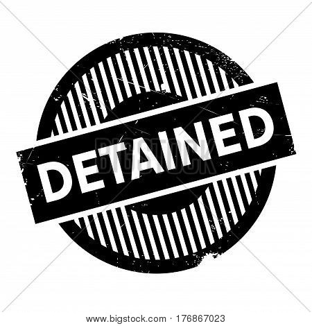 Detained rubber stamp. Grunge design with dust scratches. Effects can be easily removed for a clean, crisp look. Color is easily changed.