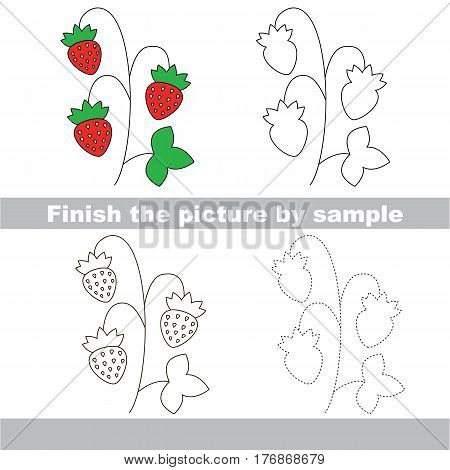 Wild Strawberry to be finished, page to be completed to educate preschool kids with easy kid educational gaming and primary education of simple game level of difficulty.