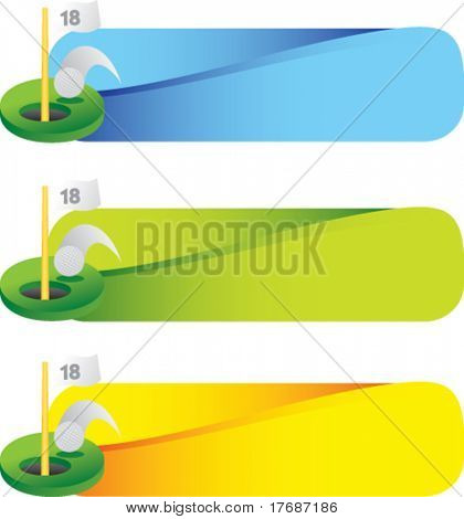 golf ball going into eighteenth hole